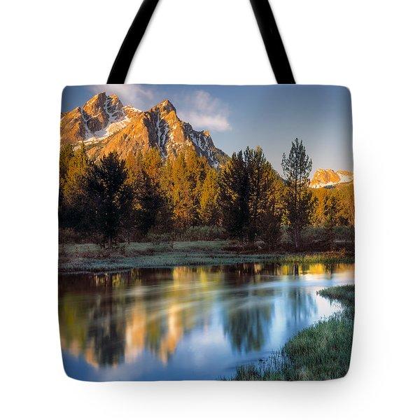 Mcgown Peak Sunrise  Tote Bag by Leland D Howard