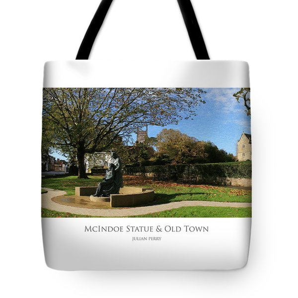 Tote Bag featuring the digital art Mcindoe Statue by Julian Perry