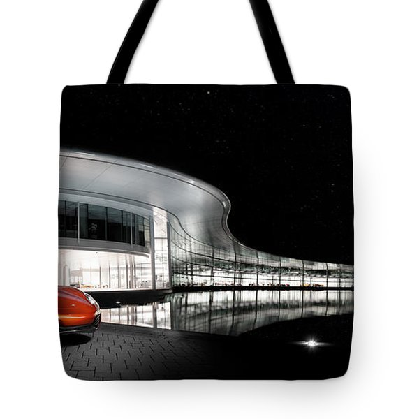 Mclaren 12c At The Mtc Tote Bag