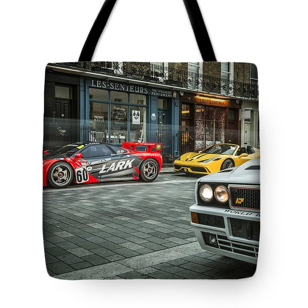 Mclaren F1 Gtr With Speciale And Integrale  Tote Bag
