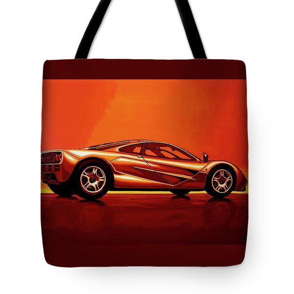Mclaren F1 1994 Painting Tote Bag