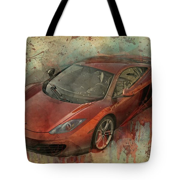 Tote Bag featuring the photograph Mclaren Graffiti by Joel Witmeyer