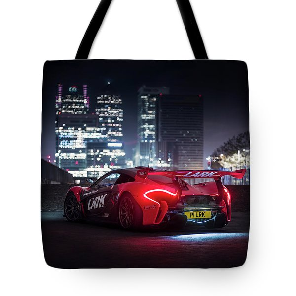 Mclaren P1 Gtr In London Tote Bag