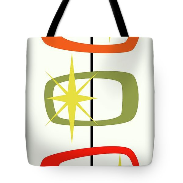 Tote Bag featuring the digital art Mcm Shapes 1 by Donna Mibus