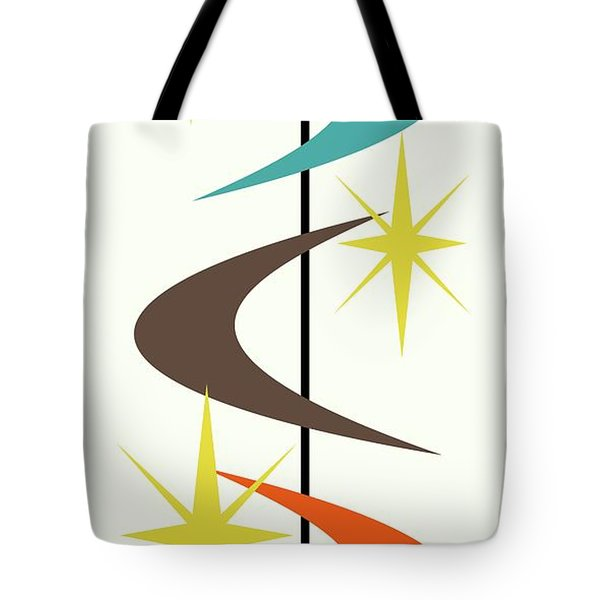 Tote Bag featuring the digital art Mcm Shapes 2 by Donna Mibus
