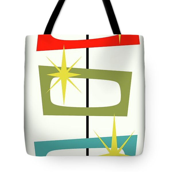 Tote Bag featuring the digital art Mcm Shapes 3 by Donna Mibus
