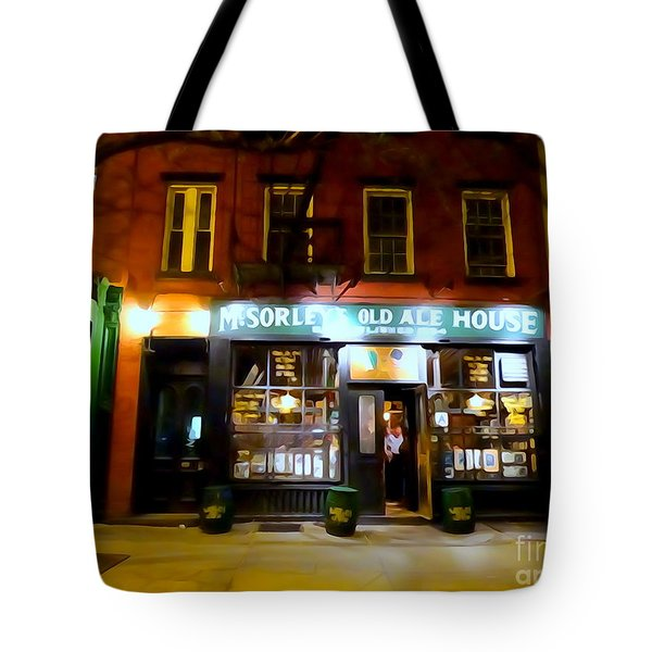 Mcsorleys At Night Tote Bag by Ed Weidman