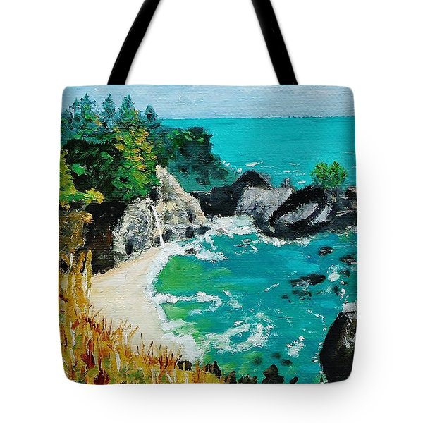 Mcway Falls  Big Sur Tote Bag by Mike Caitham