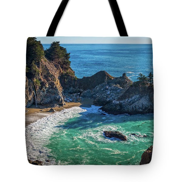 Mcway Falls Julia Pfieffer State Park Tote Bag by James Hammond