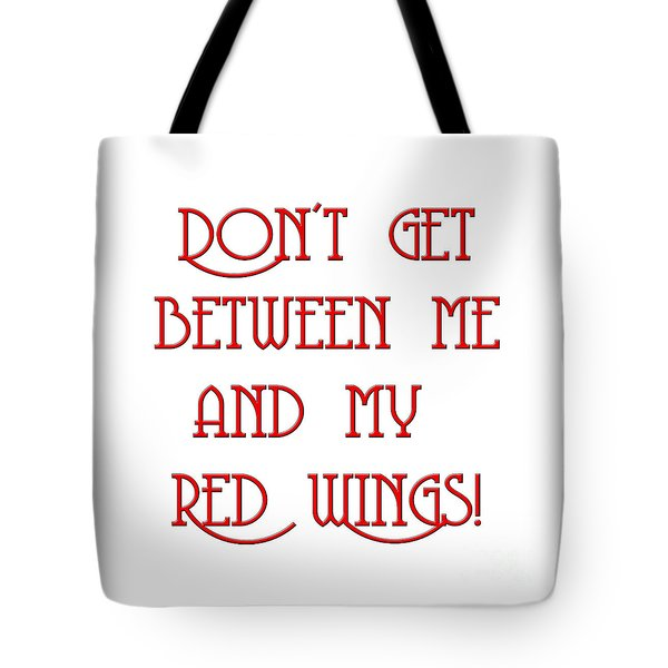 Tote Bag featuring the digital art Me And My Red Wings 1 by Andee Design