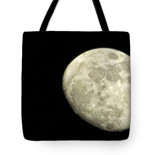 Tote Bag featuring the photograph Me And The Moon Tonight by Nikki McInnes