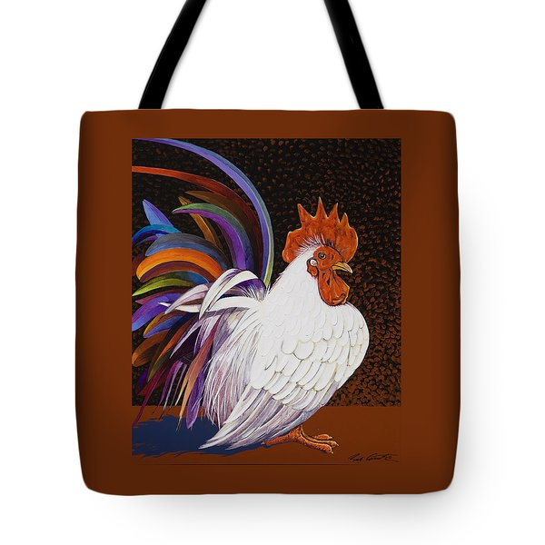Tote Bag featuring the painting Me, Me, Me by Bob Coonts