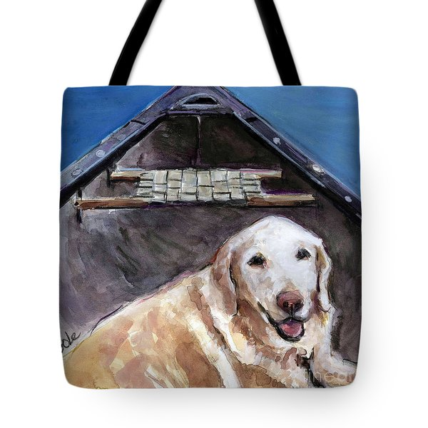Me You Canoe Tote Bag by Molly Poole