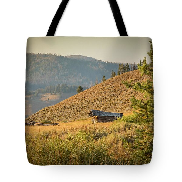 Tote Bag featuring the photograph Meadow Cabin by Mark Mille