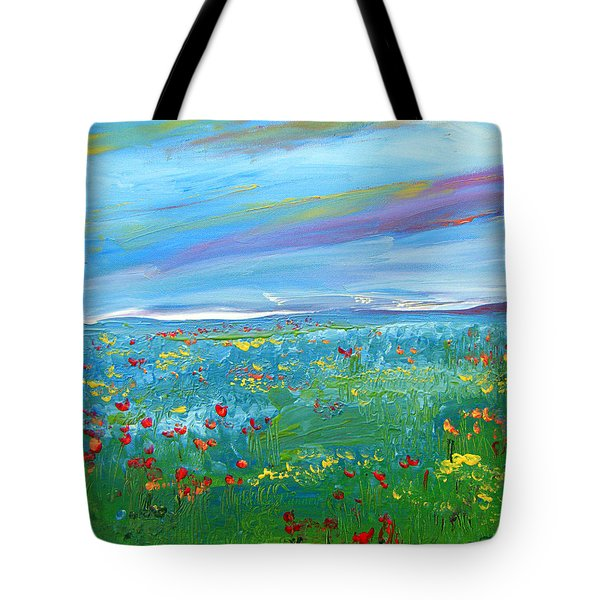 Meadow Drops By Colleen Ranney Tote Bag