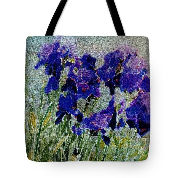 Meadow Iris Tote Bag