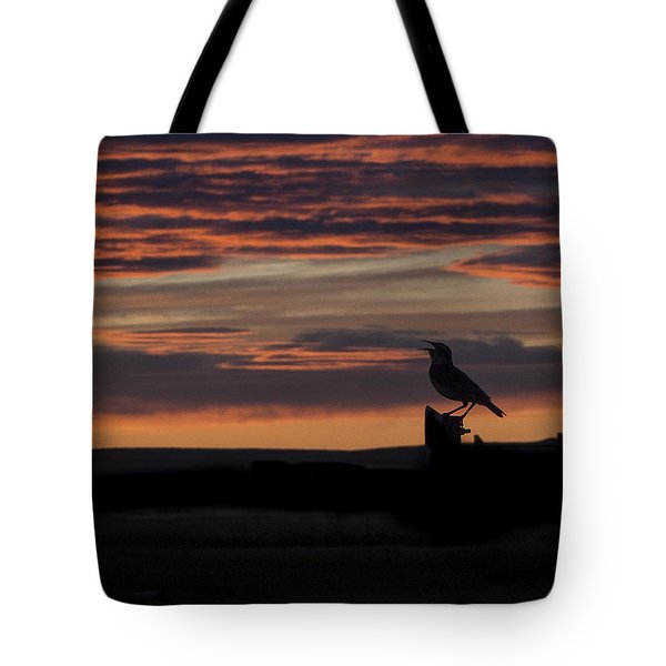 Meadow Lark's Salute To The Sunset Tote Bag