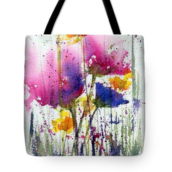 Meadow Medley Tote Bag by Anne Duke
