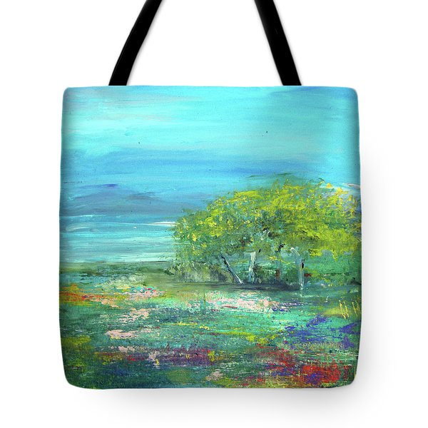 Meadow Trees Tote Bag