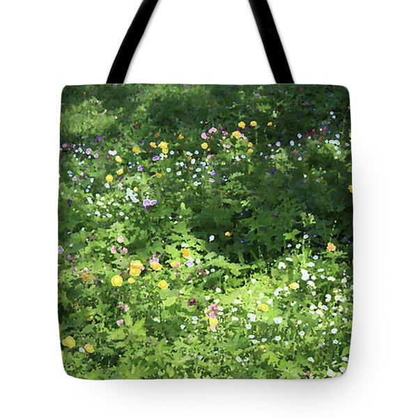 Meadow With Spring Flowers Tote Bag