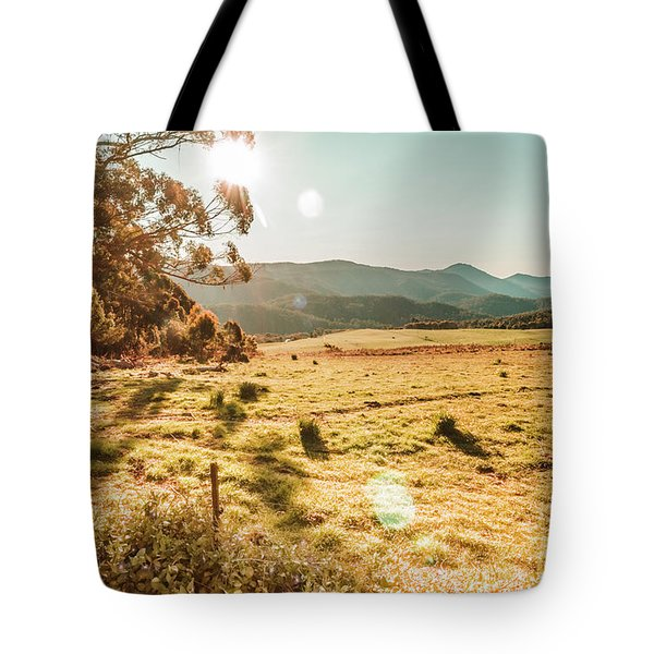 Meadows And Mountains Tote Bag