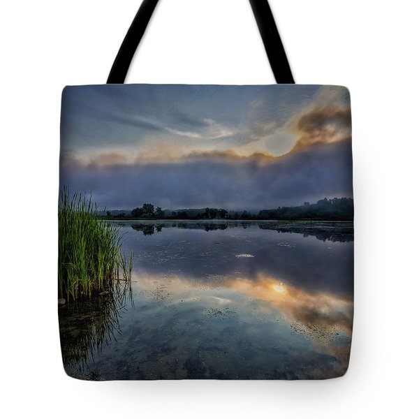 Tote Bag featuring the photograph Meadows Morning by Tom Singleton