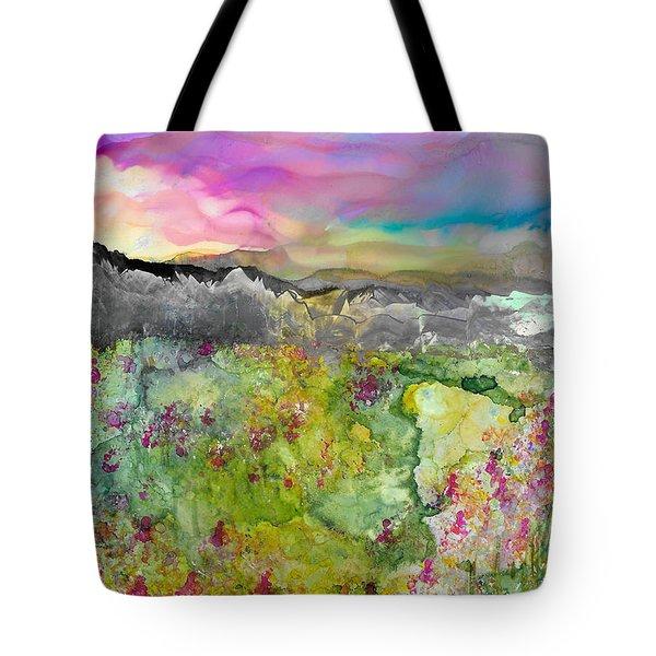 Meadows Of Banff Tote Bag