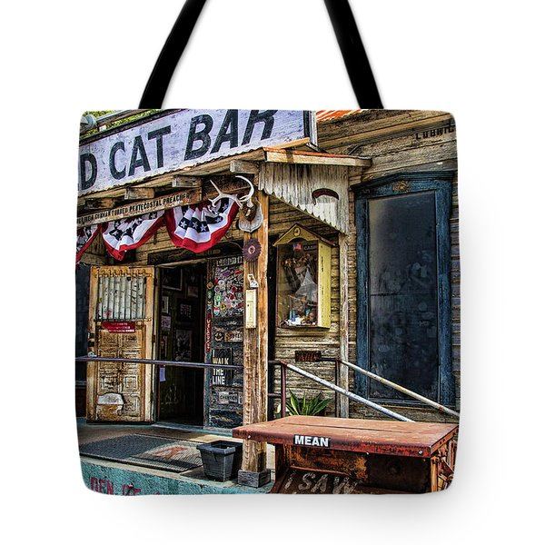 Mean Eyed Cat Bar Tote Bag