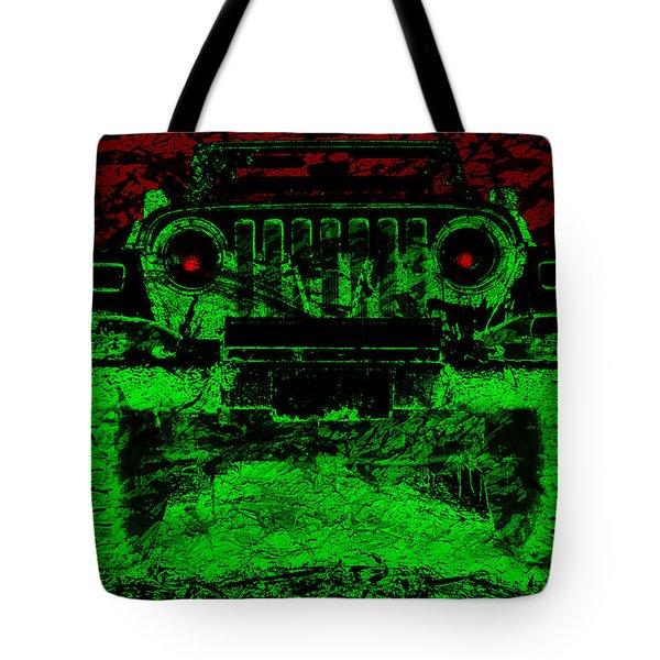 Mean Green Machine Tote Bag