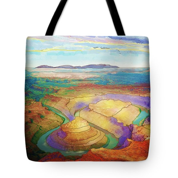 Meander Canyon Tote Bag