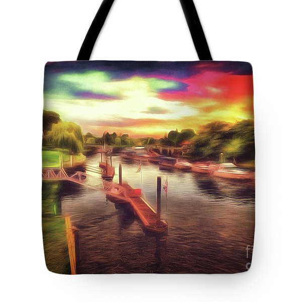 Meanwhile Back On The River Tote Bag
