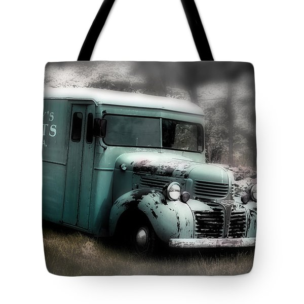 Meat Truck Tote Bag by Gray  Artus