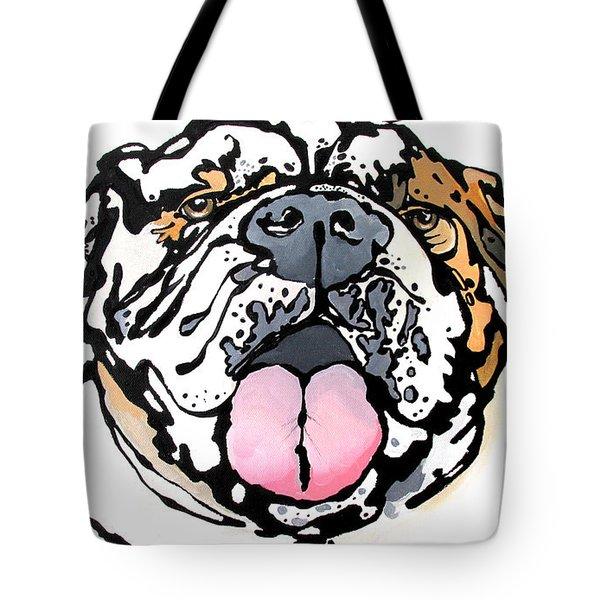 Meatball The Bull Dog Tote Bag