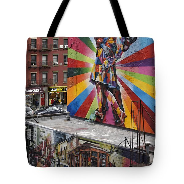 Tote Bag featuring the photograph Meatpacking District Nyc by Juergen Held