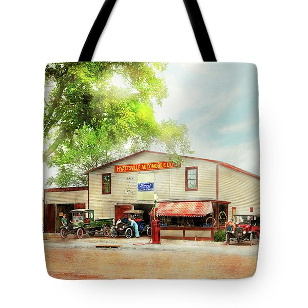 Mechanic - All Cars Finely Tuned 1920 Tote Bag by Mike Savad