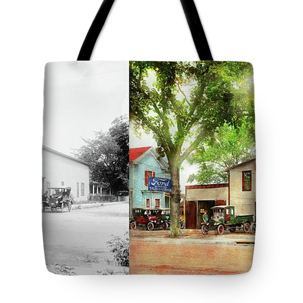 Mechanic - All Cars Finely Tuned 1920 - Side By Side Tote Bag by Mike Savad