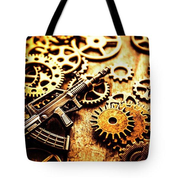 Mechanised Warfare Tote Bag