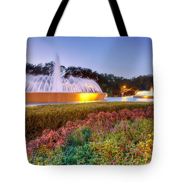 Mecom Fountain Tote Bag by Tim Stanley