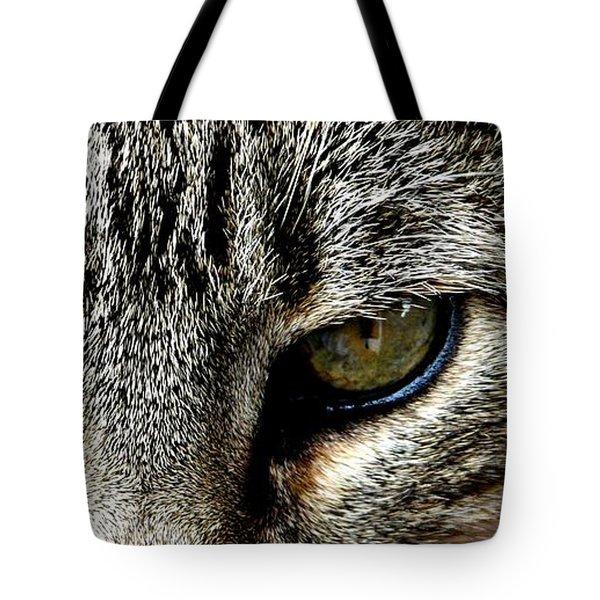 Me...dangerous...never. Tote Bag by Valerie Ornstein