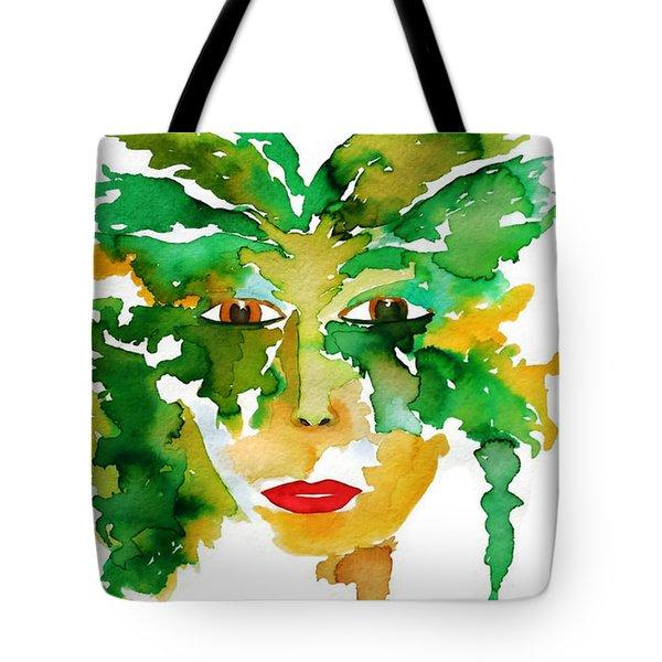 Medeina Goddess Of The Woodland Forest Tote Bag