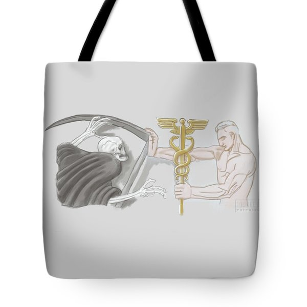 Tote Bag featuring the mixed media Medic by TortureLord Art