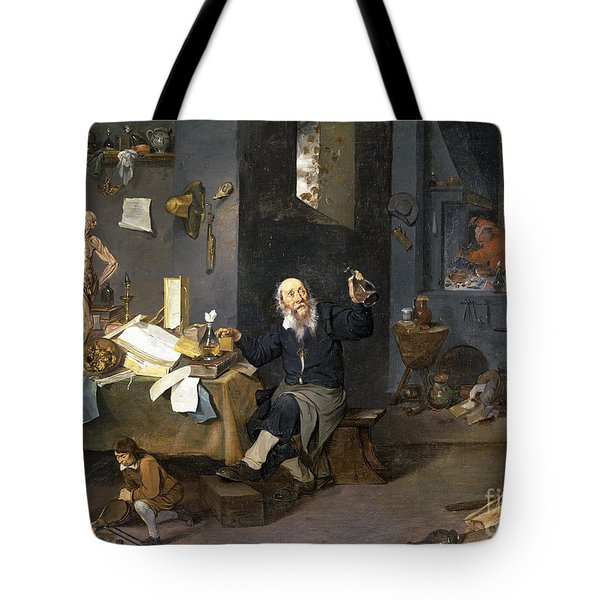 Tote Bag featuring the painting Medical Alchemist by Granger