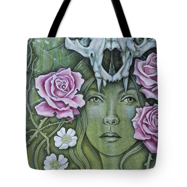 Tote Bag featuring the mixed media Medicinae by Sheri Howe