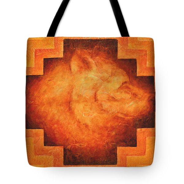 Medicine Bear Tote Bag by Kevin Chasing Wolf Hutchins