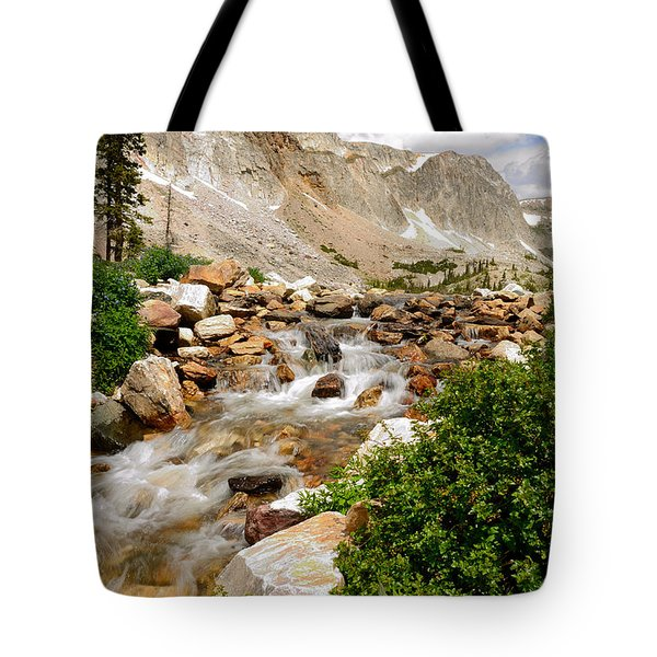 Medicine Bow Peak In The Snowy Range Wyoming Tote Bag
