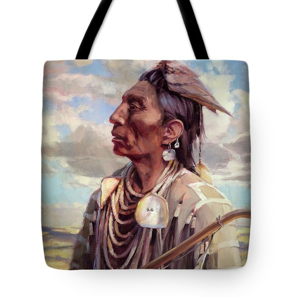 Tote Bag featuring the painting Medicine Crow by Steve Henderson