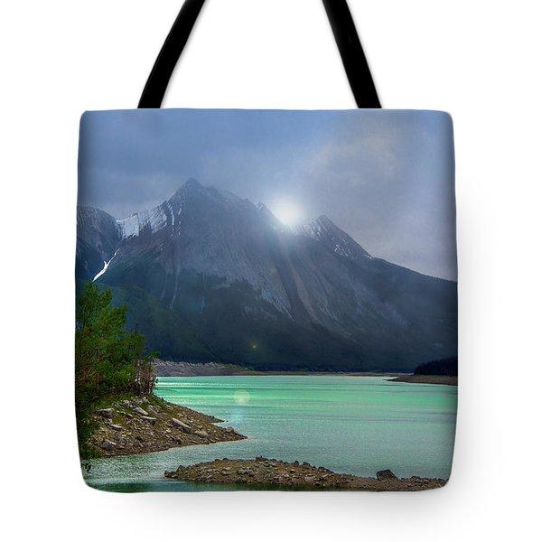 Medicine Lake, Alberta Tote Bag