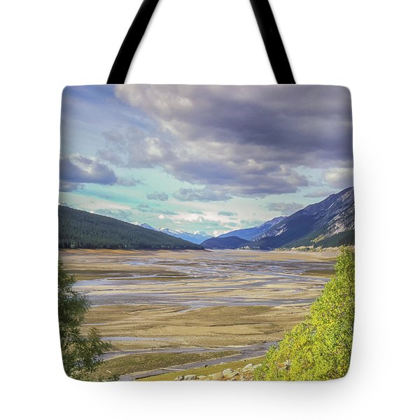 Tote Bag featuring the photograph Medicine Lake Bed 2006 by Jim Dollar