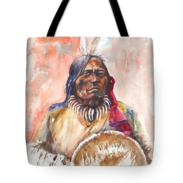 Tote Bag featuring the painting Medicine Man by Arthur Fix
