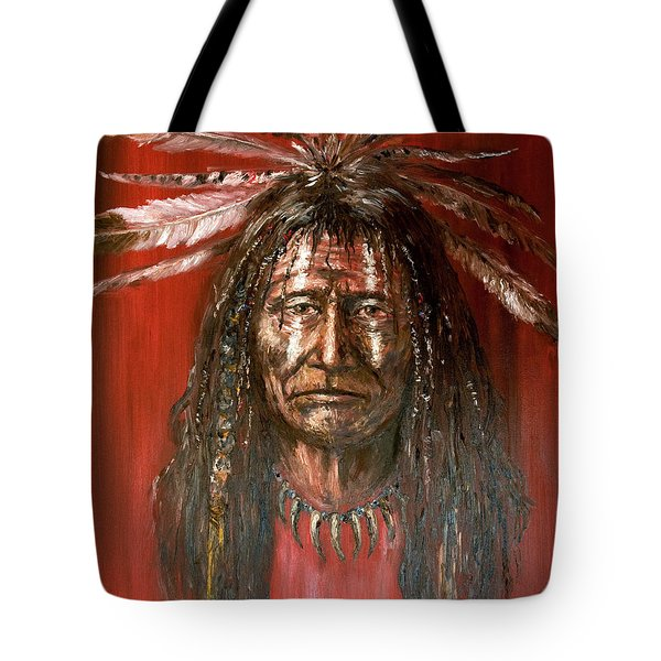 Medicine Man Tote Bag by Arturas Slapsys